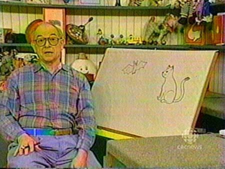 I used to love when Mr. Dressup went to the drawing board--he was so talented!
