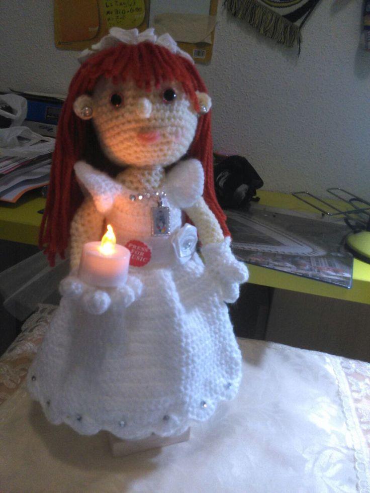 muñeca de comunion de amigurumifashion en Etsy