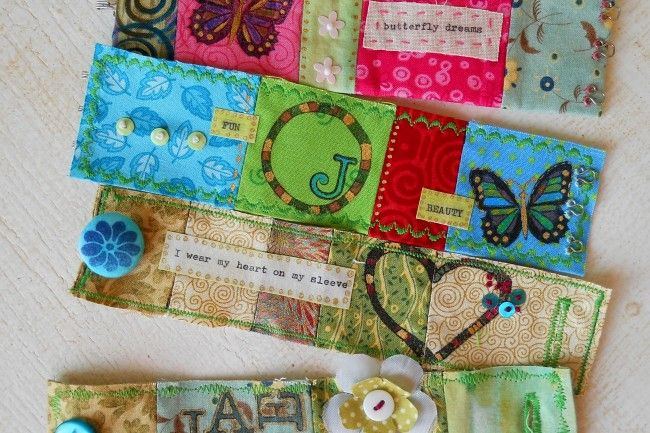 colourful fabric bracelets
