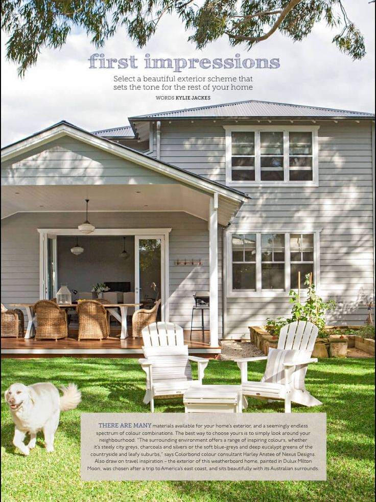 Are you looking for a weatherboard paint colour? I get asked often about my own house (further down) and so I went searching for other...