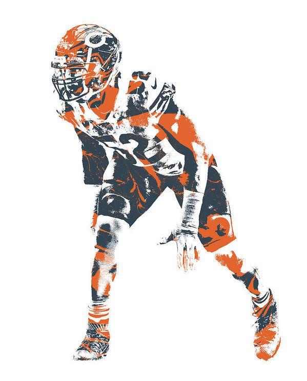 Khalil Mack Chicago Bears Pixel Art 7 Art Print By Joe Hamilton Chicago Bears Chicago Bears Clothes Chicago Sports Teams