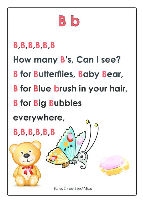 PRESCHOOL FAVOURITE. PREMIUM BUNDLE with this page. *limited time* CLICK! ABC Songs – Letter B  #Pre-K #Early #Learning #Reading #Skills #kindergarden #preschool