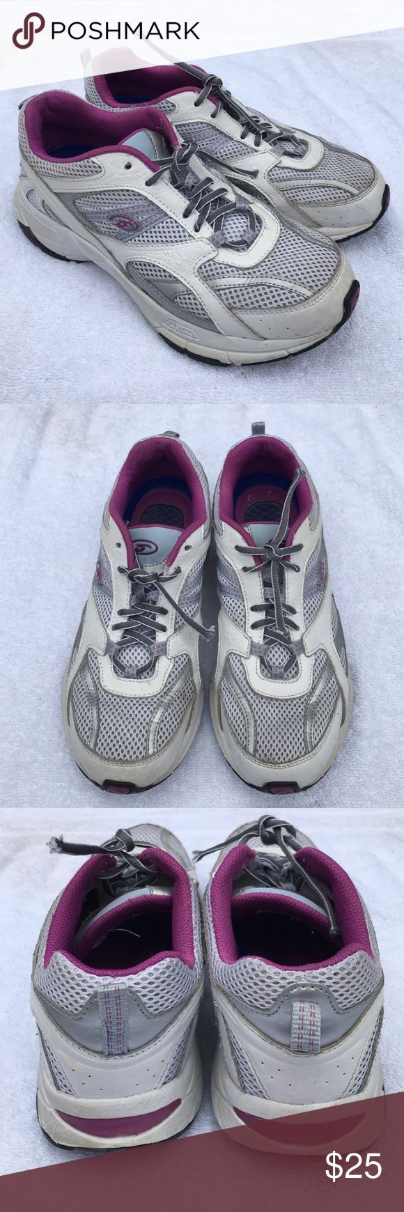 Dr. Scholl's Gym Shoes Dr. Scholl's Isabella-MT,Advanced Comfort Series, Needs New Laces, Purple/ Silver/ White, Size 8, No Box Dr. Scholl's Shoes Athletic Shoes