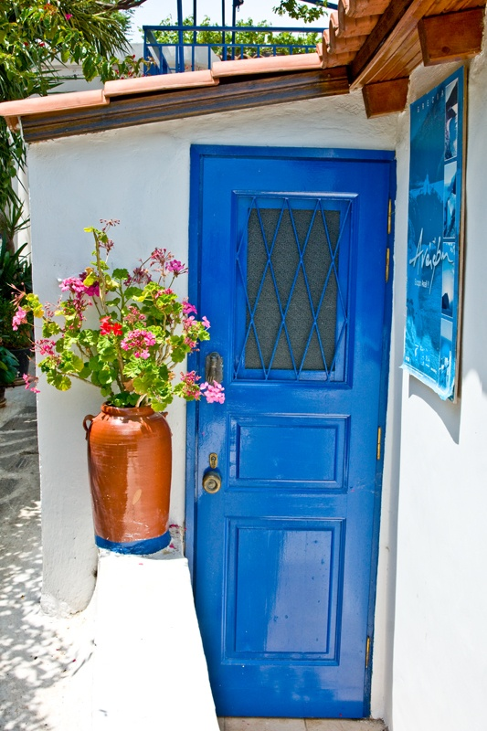 House in Anafiotika, Plaka. Like an island in the center of Athens / Greece