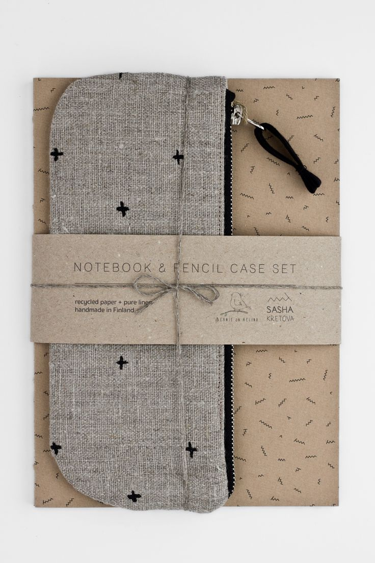 Notebook and pencil case stationery set