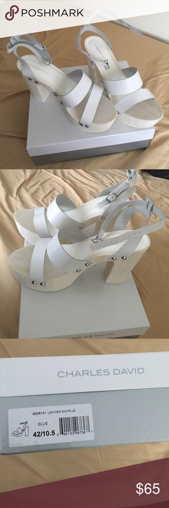 Charles David heels white White heels. NEVER WORN Charles David Shoes Heels