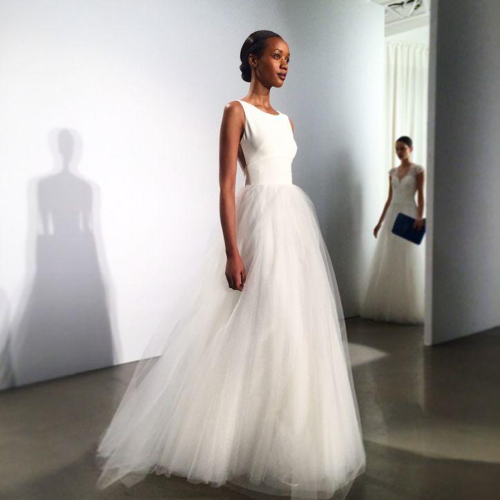 Simple Amsale wedding dress