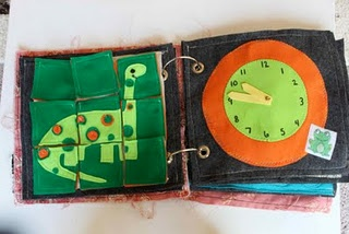 Lots of cute quiet book ideas here!