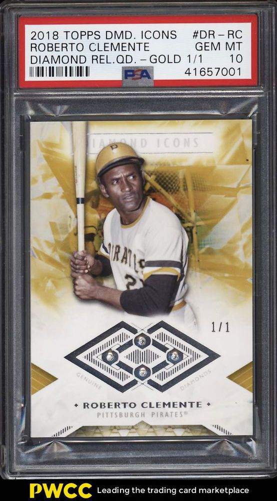 2018 Topps Diamond Icons Quad Gold Roberto Clemente 11 Psa