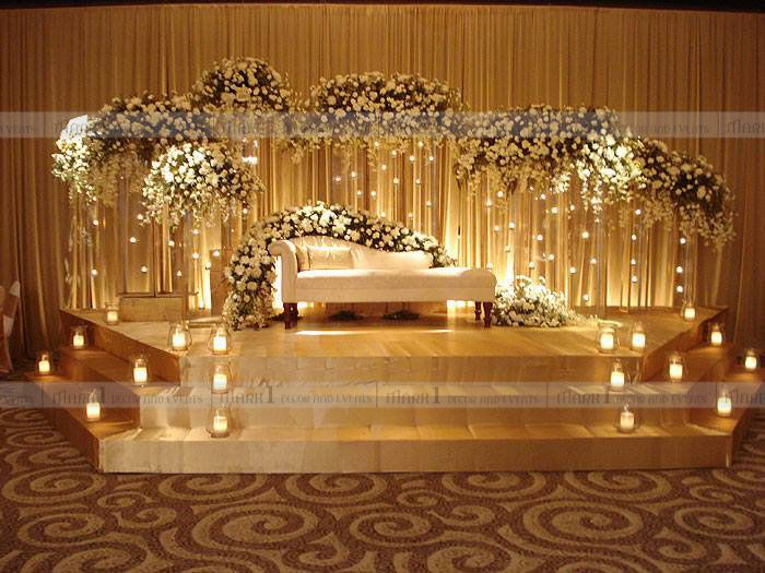 wedding stage decorations in - photo #24