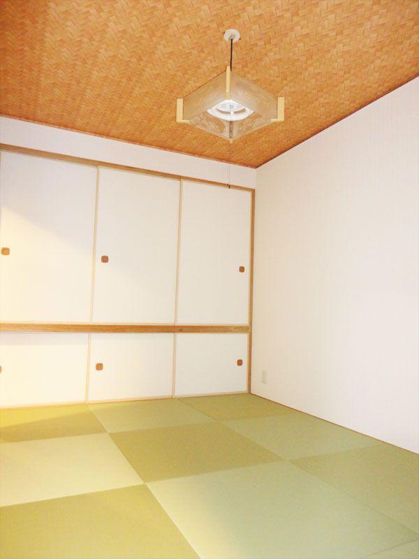 中古マンションの和室リフォーム【札幌市南区】 すけみつ畳ナビ 縁なし半畳の和室全体