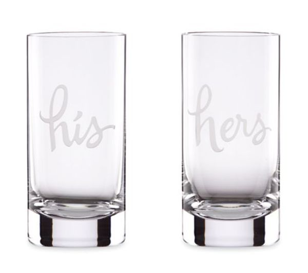 These kate spade hi-ball glasses would make great engagement gifts or wedding souvenirs!