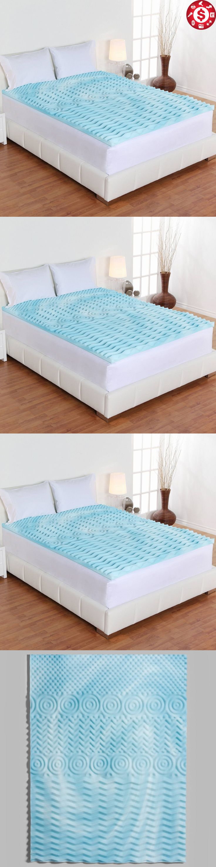 Mattress Pads and Feather Beds 175751: Twin Xl Size Cooling Gel Memory Foam  Mattress Topper