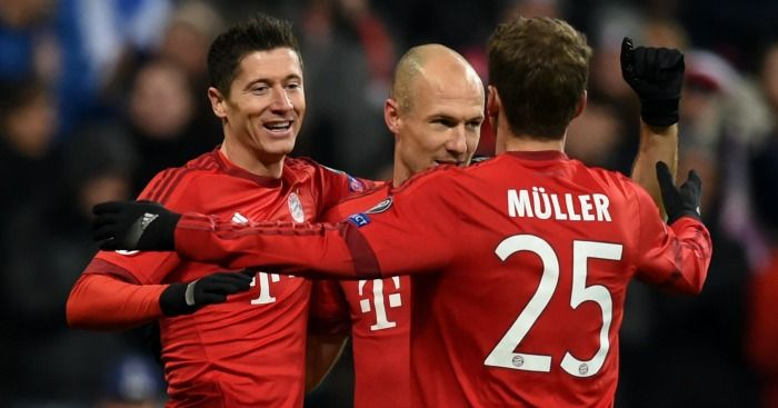 Robert Lewandowski Bayern Munich celebration