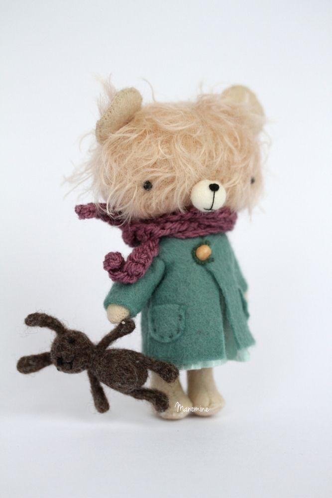 Manomine ... Мини войлочная игрушка кролик 1