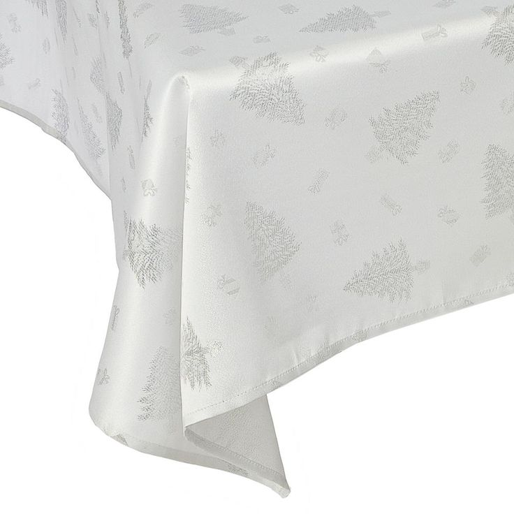 Silver Christmas Tree Tablecloths - PIN IT TO WIN IT Christmas 2015