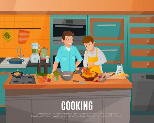 Telechargez Illustration De Cuisine Gratuitement En 2020 Illustration Vecteur Gratuit Vecteur