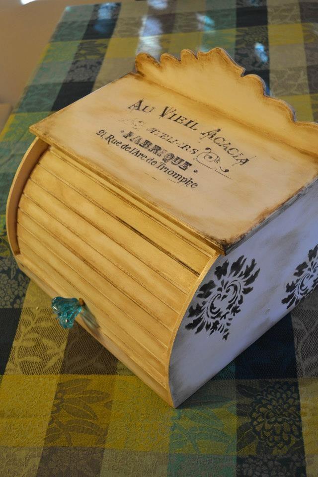 Panera vintage fibrofacil pintada a mano tecnica de for Decoracion hogar segunda mano