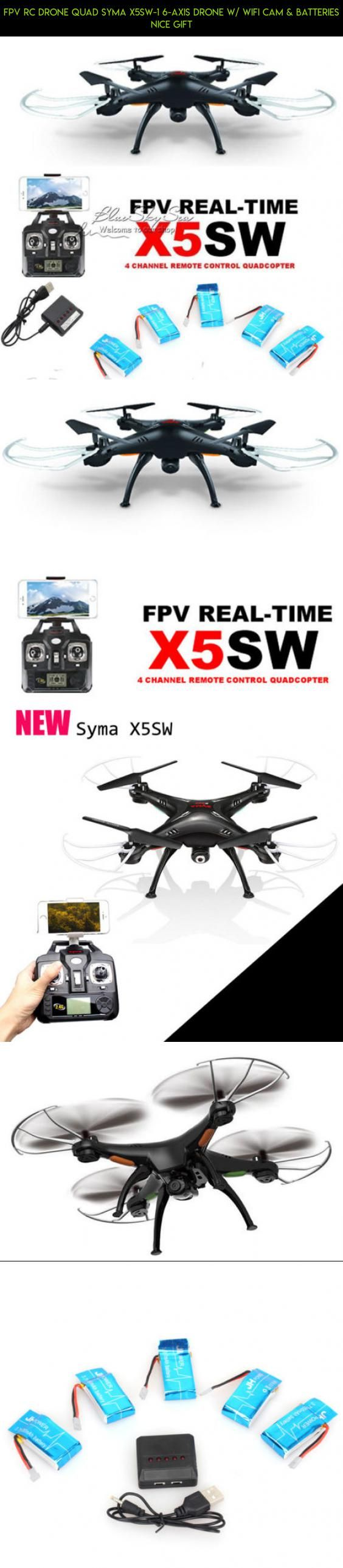 FPV RC Drone Quad Syma X5SW-1 6-Axis Drone w/ Wifi Cam & batteries nice gift #kit #quad #drone #parts #shopping #plans #camera #fpv #gadgets #tech #technology #racing #products #syma