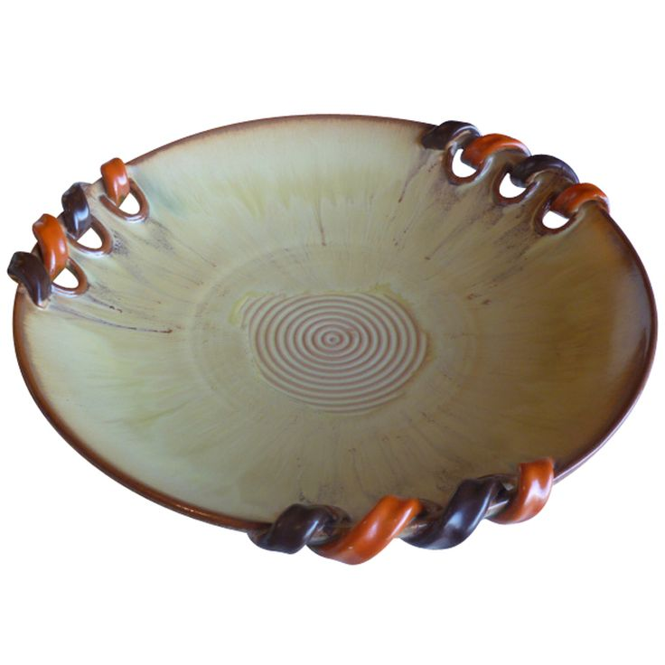 Large 1930's Swedish Pottery Charger Bowl by Harald Ostergren