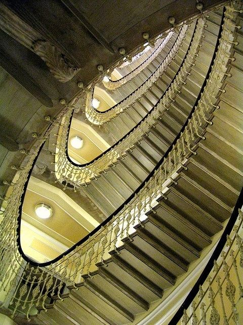 Grand staircase, The Bristol Palace Hotel, Genoa, Italy by erma.vandeestthompson