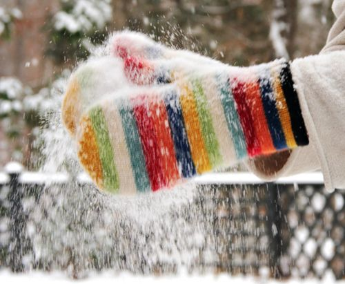 Warm woolen mittens. I remember my mom sending me to the corner store with a list in one mitten & money in the other. Those were different times, but oh what an adventure ~