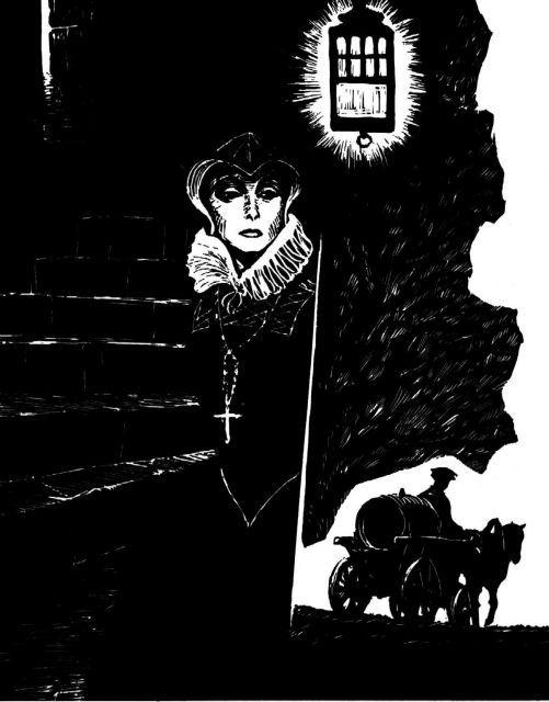 Мария Стюарт. Иллюстрация к советскому изданию романа «Мария Стюарт» С. Цвейга. Художник С. Бродский