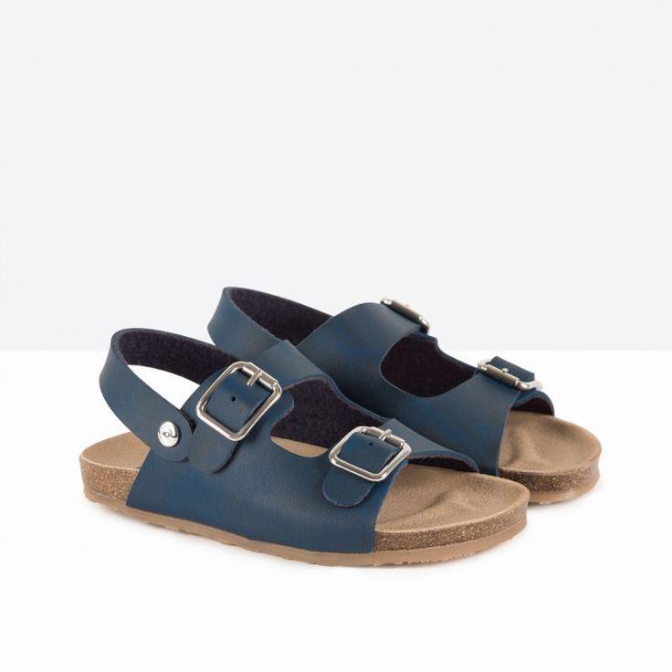 Sandalias de Niña Bio Azul - Calzado - Niño - Conguitos #conguitos #niño #shoes #collection #ss18 #sandalias #bio #azul