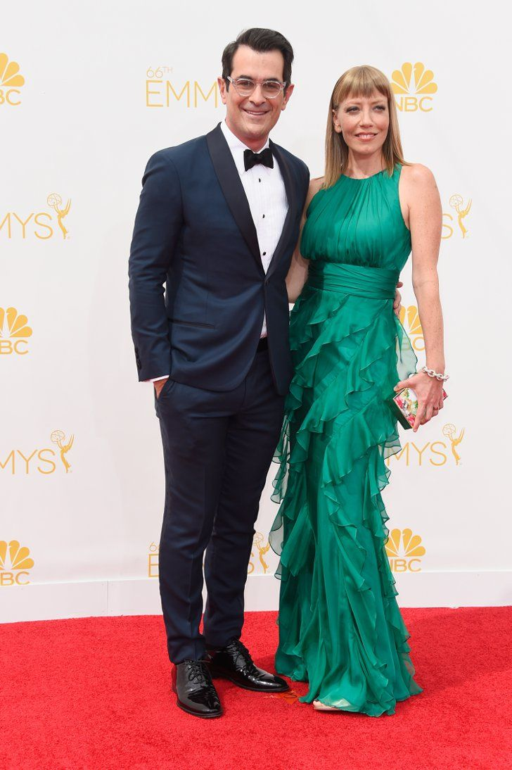 Pin for Later: Stars Couple Up on the Emmys Red Carpet Ty Burrell and Holly Anne Brown