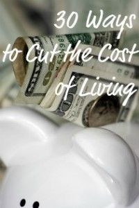 30 SERIOUS, REALISTIC ways to cut your costs of living from Simply Frugal Living