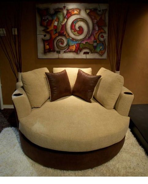 Big Round Swivel Chair