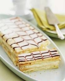 "Classic French Napoleon | DianasDesserts.com.  I always heard this called the ""mille feuille"" when I lived in Paris.  I bought two a day and ate them with relish.  Yeah, I also gained about 10 lbs. in old Paris.  This is a must for all pastry lovers!"