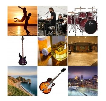 Research & Planning - I used an online collage creator to produce a moodboard to present the synesthesia of my indie rock genre. This highlighted what codes are usually implemented into indie rock products to gain a positive reaction from the audience.