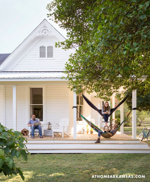 Simple White Farmhouse - At Home in Arkansas