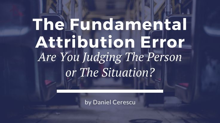 The fundamental attribution error unleashes a timeless message that explains what is the ultimate path to bringing humanity back in.