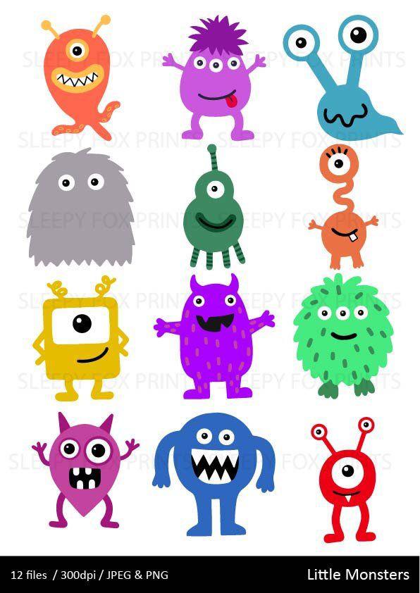 Monsters Clipart Monster Clip Art Boys Spooky Monster Etsy Monster Clipart Cute Monsters Clip Art