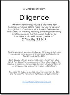 Biblical character study in diligence from Confessions of a Homeschooler