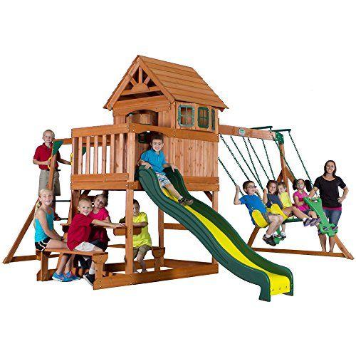 Backyard Discovery Springboro All Cedar Wood Playset Swing ...