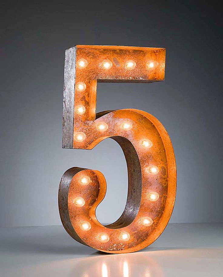 Industrial Style Light Up Letters: Vintage Industrial Metal Marquee Lights