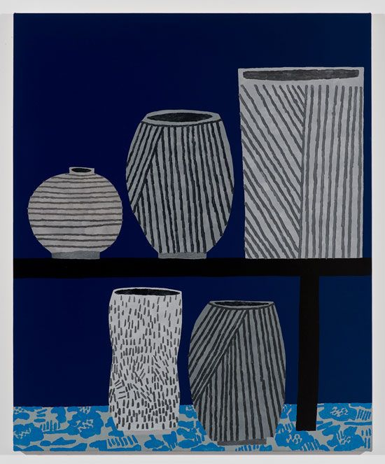 """5 Pots"" by Jonas Wood, 2013."