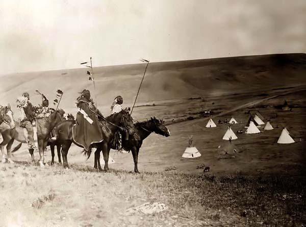 American Indian Wars   Indian War Party on Horseback