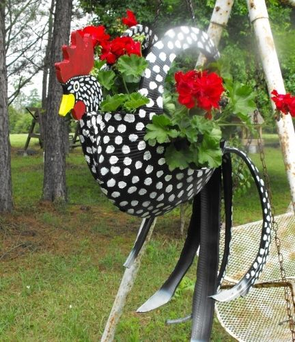 tireswingsandgardenthings.com -- Wonderful recycled tire ideas are for sale on this site -- or you can take a look and figure them out yourself.
