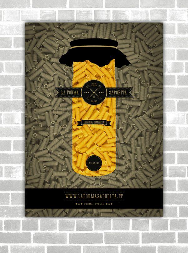 Italian Pasta Brand - Bachelor Thesis by Yanko Djarov, via Behance