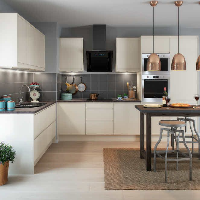 Best City Cream Fitted Kitchen By Magnet Creamkitchen With 400 x 300