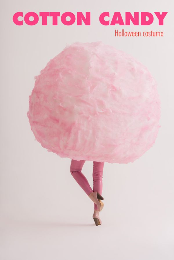 DIY Cotton Candy Halloween Costume