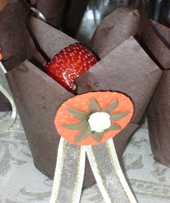 Wedding Cupcake with Strawberry Deco
