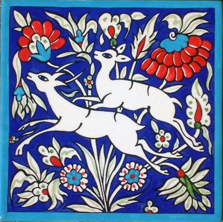 Gazelle - Sandrouni tile