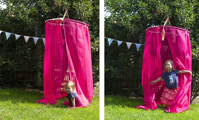 how to make a play canopy tent