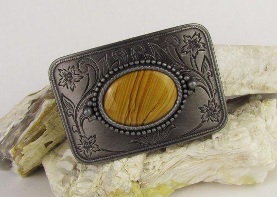 OOAK Handmade Western Belt Buckle  Natural Stone by CJsRocksGems, $49.95
