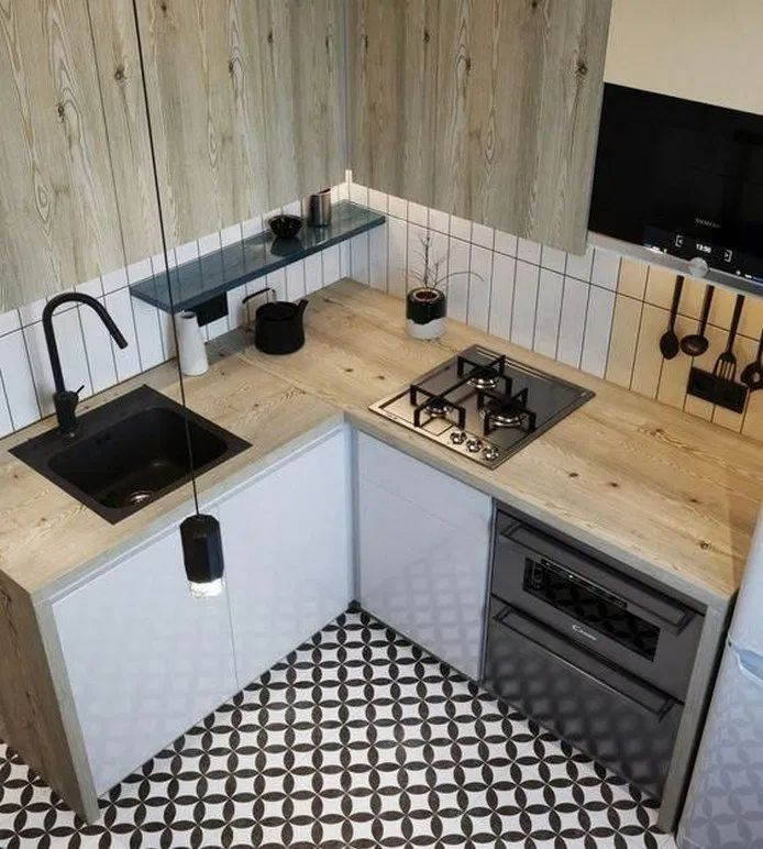 51 Choose Best Color For Small Kitchen Remodel #color #kitchen #kitchenremodel #decor #interior | designirulz.com